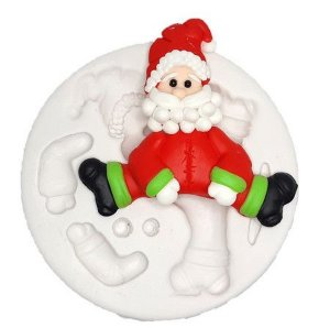 Molde de silicone de Papai Noel
