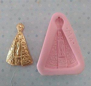 Molde de silicone Nossa Senhora Aparecida batizado religião