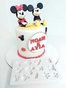 Molde de silicone de Aplique do Mickey