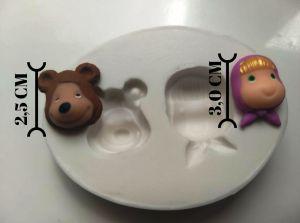 molde de silicone da Masha e o Urso P