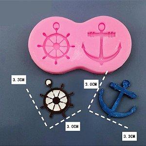 Molde de silicone de Marinheiro fundo do mar Âncora / timão