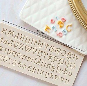 Molde de silicone de Letras/ Alfabeto Medievais