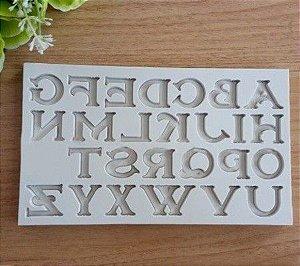 Molde de silicone de Letras/ Alfabeto Lisa