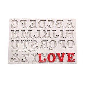 Molde de silicone de Letras/ Alfabeto Decorado