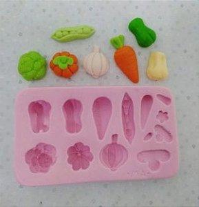Molde de silicone de Legumes/Verduras (Modelo 2) brocolis, alho, cenoura, chuchu, abobora, pimentão e vagem