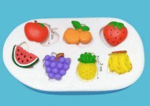 Molde de silicone de Frutas (Modelo 2) melancia, uva, abacaxi, banana, morango, laranja, maça