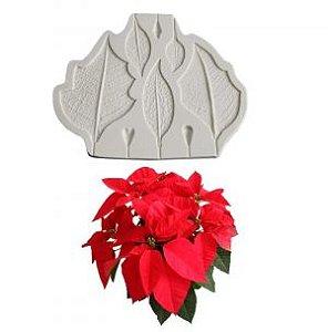 Molde de silicone Frisador da Flor de Natal