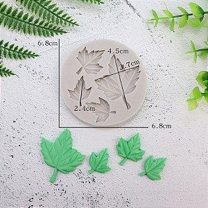 Molde de silicone de Folhas de Outono- Frozen (Modelo 2)