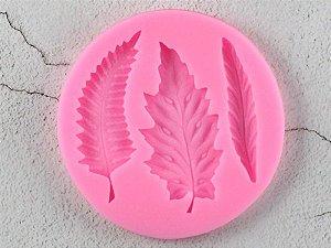 Molde de silicone de Folhas 3x1