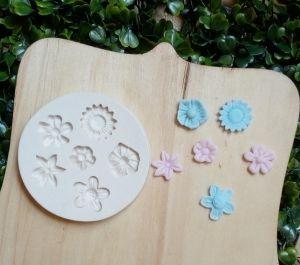 Molde de silicone de Flores Diversas (Modelo 2)