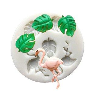 Molde de silicone de Flamingo e Costela de Adão