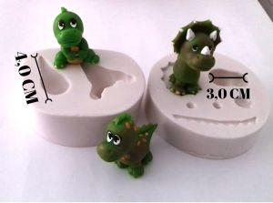 Molde de silicone de Dinossauros 3D