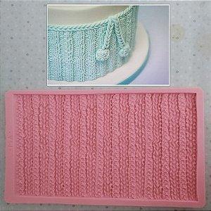 Molde de silicone de Textura Tricô (Modelo 2)