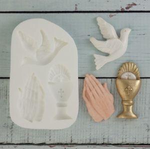 Molde de silicone de Religião/ Batizado