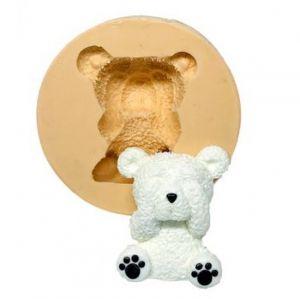Molde de silicone de Urso Sentado com a mão nos olhos