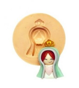 Molde de silicone de Santa - Busto religião