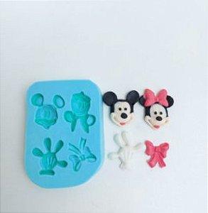Molde de silicone do Mickey e da Minnie