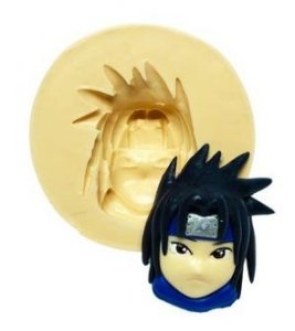 Molde de silicone  Rosto do Sasuke- Naruto