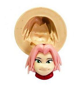 Molde  de silicone Rosto da Sakura- Naruto
