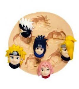 Molde de silicone  Rosto dos Personagens do Naruto