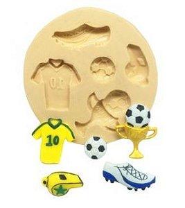 Molde de silicone de Futebol