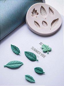 Molde de silicone de Folhas- 6 Modelos