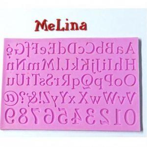 Molde de silicone de Alfabeto Completo com Números