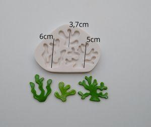 Molde de silicone de Algas Marinhas fundo do mar
