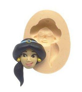 Molde de silicone Rosto da Jasmine- Aladdin