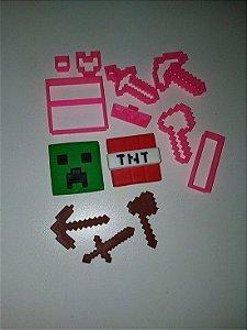 Kit Cortador 3D Tema Minecraft