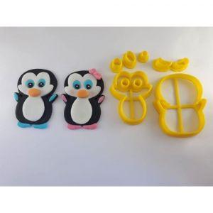 Cortador 3D  Pinguim 4 cm