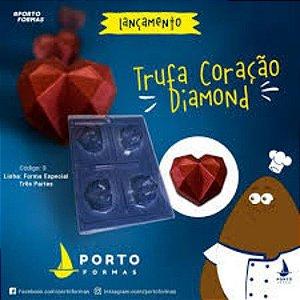 Forma Trufa Coração Diamond (03) Porto Formas
