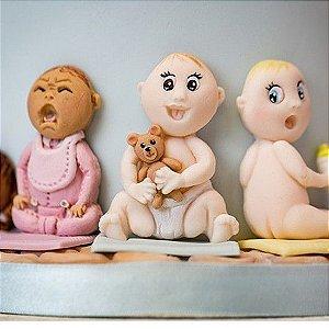 Molde de silicone Bebês