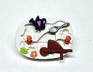 Molde de silicone kit Jardinagem - Jardim Encantado