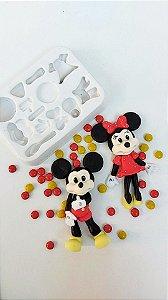Molde de silicone Mickey e Minnie