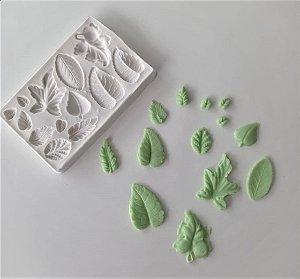 Molde de silicone de Folhas Vários Modelos