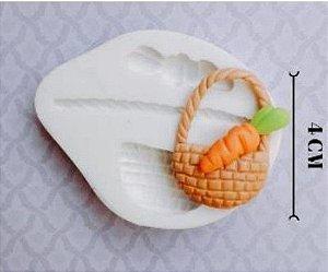 Molde de silicone Páscoa Cesta e Cenoura