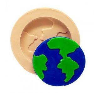 Molde de silicone do Planeta Terra / viagem