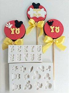 Molde de silicone Números do Mickey