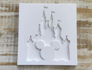 Molde de silicone do Castelo do Mickey
