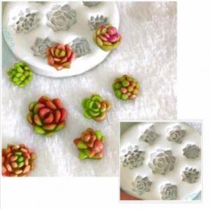 Molde de silicone De Florzinhas/ Suculentas