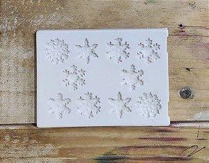 Molde de silicone de Flocos de Neve / natal / frozen