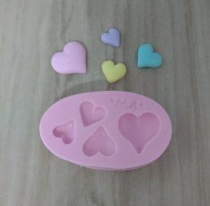 Molde de silicone de Corações