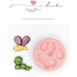 molde de silicone de Borboleta Baby jardim