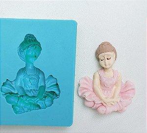 molde de silicone De Bailarina Sentada