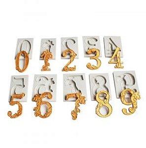 Molde de silicone de Números Decorados/ Arabesco- Modelo 3