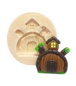 Molde de silicone Casa da Masha e o Urso