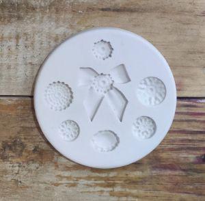 Molde de silicone Botões com Laço