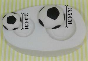 Molde de silicone Bola de Futebol- 2 modelos