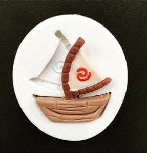 Molde de silicone Barco da Moana